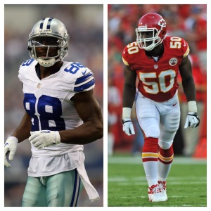 Dez Bryant and Justin Houston