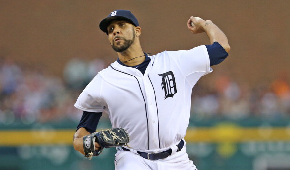DETROIT, MI - AUGUST 16:  David Price #14 of the Detroit Tigers pitches in the fifth innng of the game against the Seattle Mariners at Comerica Park on August 16, 2014 in Detroit, Michigan.  (Photo by Leon Halip/Getty Images)